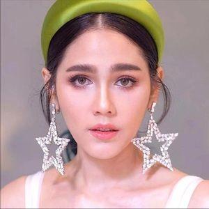 Jewelry - Earrings oversize crystal rhinestone star earrings